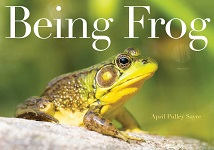 "Book Cover of ""Being Frog"" by April Pulley Sayre"
