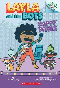 """Cover image of """"Layla & the Bots: Happy Paws"""""""